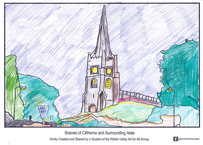 Art For All Ribble Valley - Clitheroe Church Scene